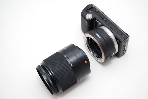 Alpha lenses can be used via an A-mount adapter, but you lose auto-focus, and add size and weight. Note that the adapter has to be purchased separately and is not part of the package.