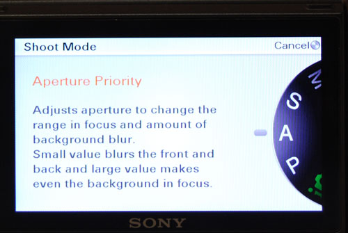 Instead of a physical mode dial, Sony has opted to create it in the interface. It saves space on the camera body, but also means you have to make more trips into the menus.