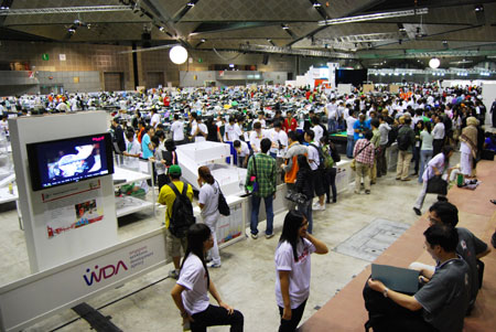 Held over two floors in Suntec City's Convention Centre, RoboCup 2010 was huge.