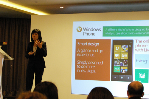 Windows Phone 7 showcases a simple UI that allows you to create Hubs for faster and seamless connectivity with your social networks, documents and even, favorite songs.