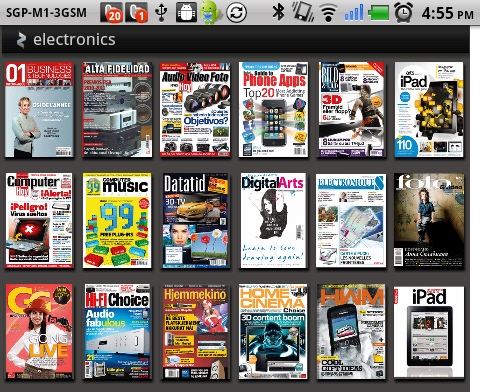 Reading Zinio magazines such as our very own HWM in there (forgive us for the shameless plug!) might be a bit tough on the 5-inch display.