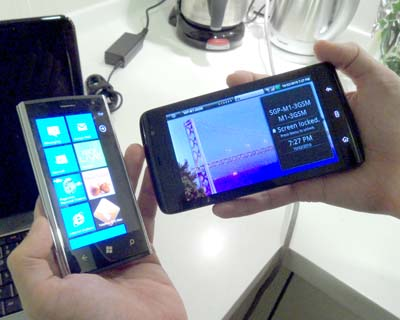 Companies aren't putting all their eggs in one basket. Dell, for one, will be tapping onto both Windows Phone 7 and Android for its Dell Venue Pro (left) and Dell Streak (right).