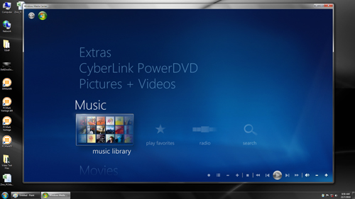 "Microsoft has peppered the recent version of Windows Media Center on Windows 7 with a few updates, such as a new ""Play Favorites"" tabs for its Music, Video and Photo segments, just so you can jive to your favorite tunes."