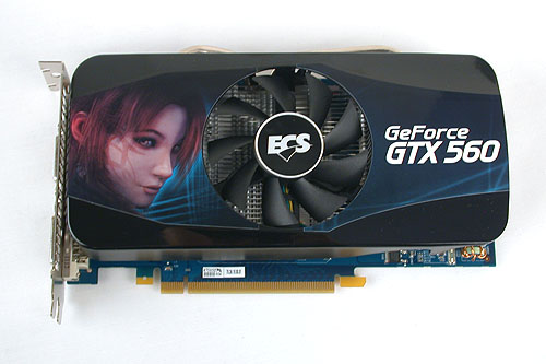 The specifications for this ECS card are the bare minimum for its SKU. It features a fan at the center, similar to the GTX 560 Ti.