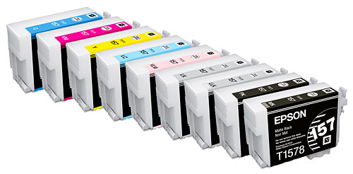 Epson UltraChrome K3 with Vivid Magenta ink set.