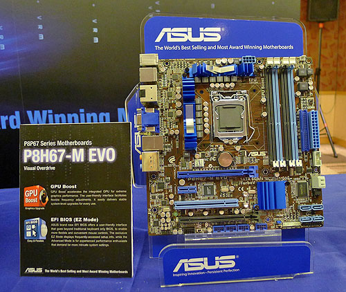 With all the emphasis on the P67 chipset, let's not forget that the new Intel processors will have integrated graphics and hence, is a boon for boards with integrated graphics support like this ASUS P8H67-M EVO which is based on the H67 chipset.