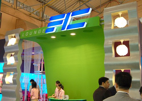 FIC's booth was cosily done up to simulate a swanky living room interior to complement the lifestyle consumer electronic devices they were showcasing.