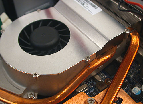 It looks large but we couldn't really hear the fan when using the Vision 3D. It is extremely quiet by any standards.