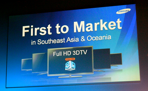 This slide says it all. With little sympathy for their rivals, Samsung is looking to gain an early foothold in the Southeast Asia and Oceania regions.