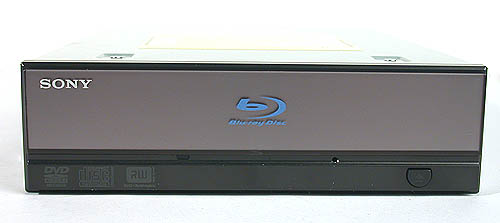 The redesigned front bezel distinguishes the Sony from other drives.