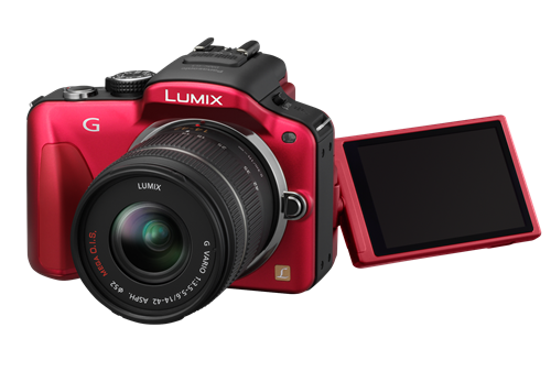 The Panasonic Lumix DMC-G3 comes in black, red, white and brown.