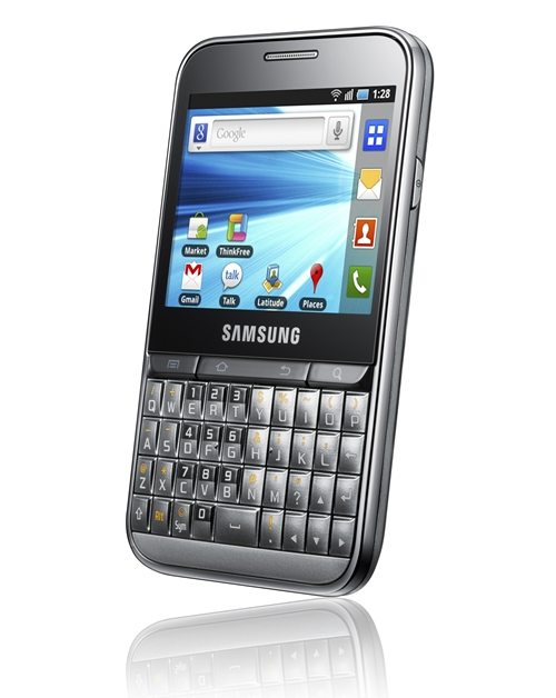 The Samsung Galaxy Pro blends business and fun together with a QWERTY keyboard and touch screen.