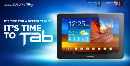 Source: Screenshot of Samsung's Galaxy Tab microsite