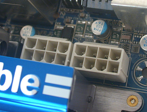 In case you're doubting Gigabyte, there are two 8-pin 12V ATX power connectors.