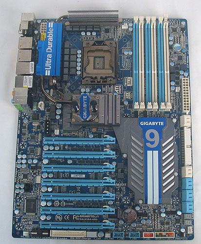 9, or to be exact, the UD9 is Gigabyte's new flagship X58 motherboard, packed with more features and expansion options than ever before. It's a new level of over-the-top and one-upmanship in motherboard design, not to mention that it's in XL-ATX form factor, which is larger than the usual ATX dimensions.