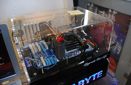 A demo system with Gigabyte's components that will be used in the competition.