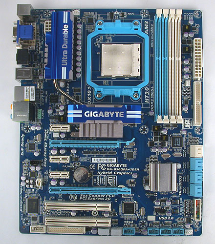 The color scheme from Gigabyte is not the only familiar thing about this board. There's also the company's usual proprietary features like Ultra Durable 3.