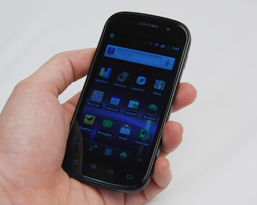 Even with a slightly thicker and heavier profile, the Nexus S is still as easy to handle as the Galaxy S was.