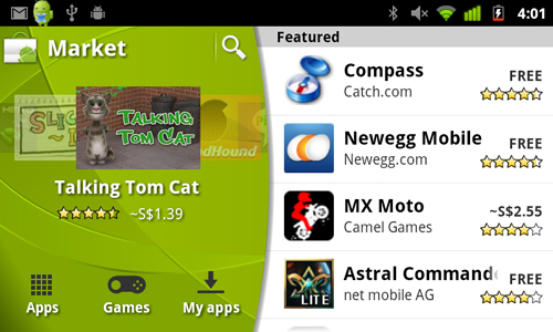 An updated Android Market comes with an easier to read layout and better accessibility to apps.