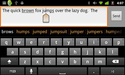 A redesigned keyboard doesn't do much for typing speeds, but it manages to auto-correct most of our typos.