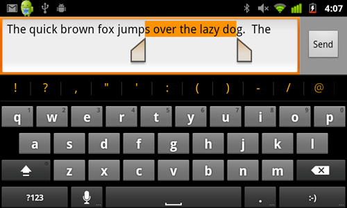 Word selection is also improved, giving you a multi-touch option to drag the cursor across a range of words.