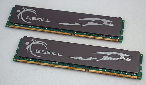 G.SKILL's ECO DDR3 memory module is one of the two that's rated at 1.35V. A rather standard heat spreader design adorns the memory sticks.