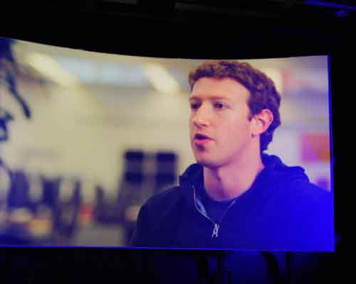 Mark Zuckerberg makes an appearance at the press conference, albeit in a video, congratulating HTC as the first manufacturer to bring an even tighter Facebook integration to its lineup.
