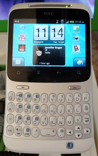 SingTel is the first mobile operator in Asia Pacific to introduce the HTC ChaCha.
