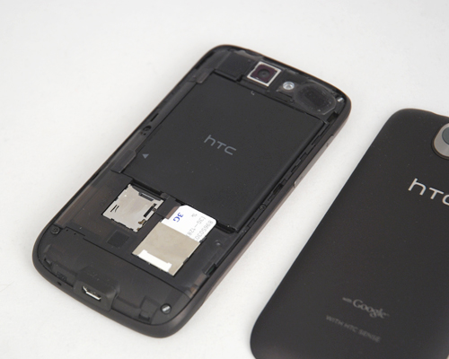 Pry, open and access the battery, microSD and SIM card behind the device.
