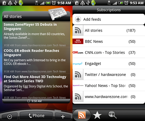 And if your source of news is through RSS feeds, you can also utilize the News app that allows you to add and grab RSS feeds off the web.