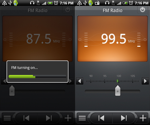 More exclusive features, such as FM radio, on the HTC Desire.