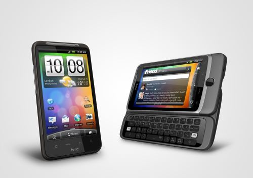 HTC's latest flagship smartphones powered by the Android operating system; the HTC Desire HD and the HTC Desire Z.