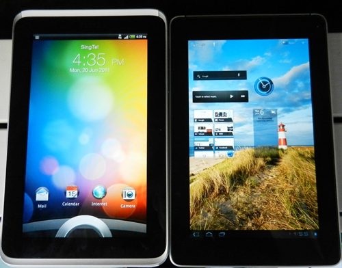 We put the HTC Flyer side by side with Huawei MediaPad, and found colors to be richer on the MediaPad.