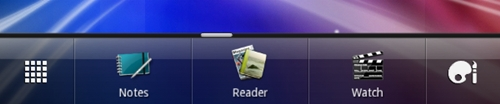 The dock provides easy access to five apps, which you can change by dragging apps in and out.