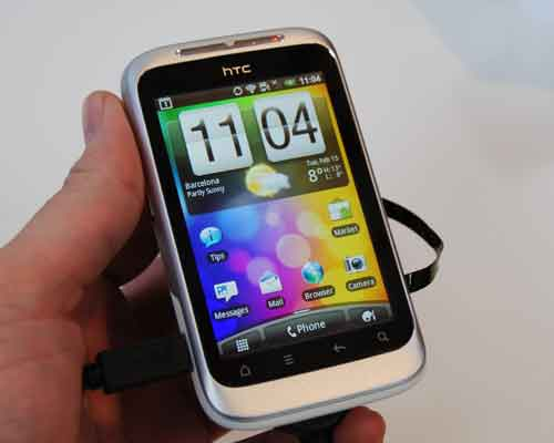 Targeted at the mass market, the HTC Wildfire S follows its predecessor's compact and lightweight design concept.