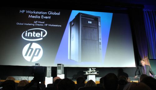 Jeff Wood, Global Marketing Director for HP Workstations, kicks off the event.