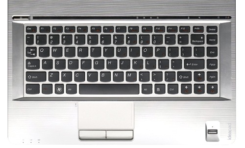 Cheers for Lenovo's decision to go with an island keyboard plan. Expect a generous pitch and soft tactile experience. One downer is we do not fancy the cramped backspace key too much. To toggle between its integrated and discrete graphics, tap the touch-sensitive button located just above the keyboard.