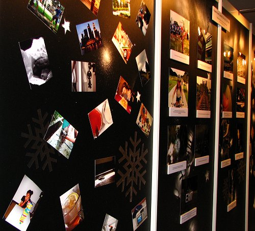 Photo Montage wall done up to showcase the imaging capabilities of Sony Cybershot cameras.