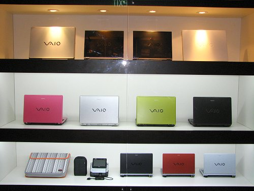 The range of Sony VAIO notebook series was dominated by the cool and sexy Sony UX!