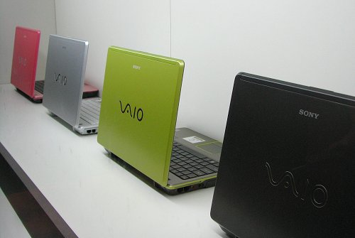 Another look at the funky colors for the Sony VAIO C series