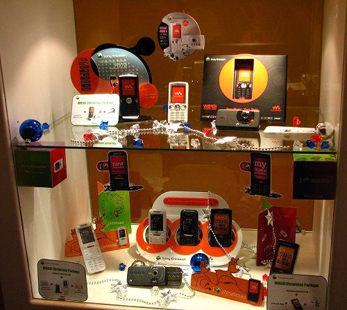 Interestingly, there was a showcase area for Sony Ericsson mobile phones.