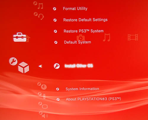 Choose this option to install the official installer from Sony. The files must be present in any storage media connected to the PS3. Follow the instructions to get the folder structure and name so that the PS3 can recognize it.