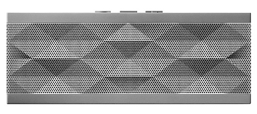 The most alluring feature of the silver Jambox is undoubtedly its finely crafted, textured metal grill.