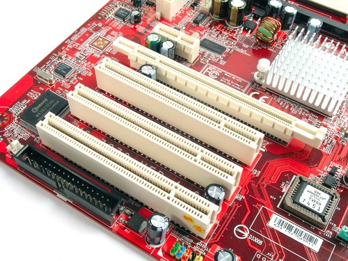 Three PCI and one PCIe x1 slots are available to the K9NU Neo for upgrading purposes.
