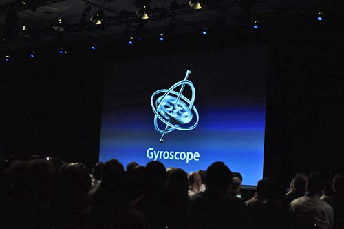 The gyroscope is one of the newer features in the iPhone 4, and will allow you to play games as you move.
