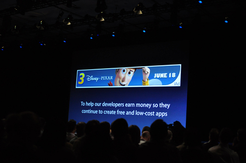 Apple's iAd will help their developers earn money, though hopefully this won't be intrusive and annoying.