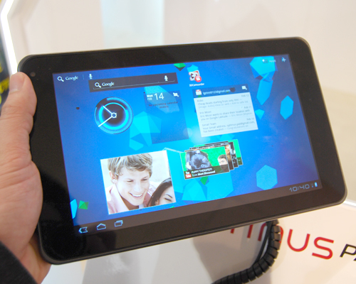 This year, expect more tablets running on dual-core CPUs and Android 3.0, like the LG Optimus Pad shown here