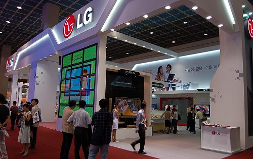 LG is out in full swing to showcase its suite of household products.