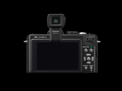 The LX5 supports various accessories, including this Live View Finder for shooting under strong daylight.