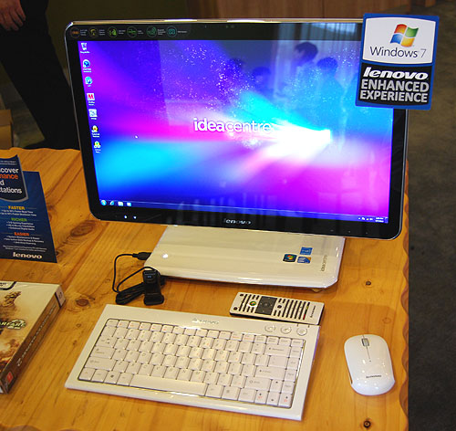 An AIO beauty, the Lenovo IdeaCentre A310 will undoubtedly attract the most attention.